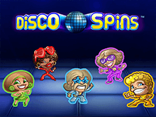 Disco Spins на зеркале клуба